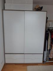 IKEA TRYSIL Kleiderschrank Schiebetüren weiß