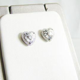 Schmuck, Brillen, Edelmetalle - Ohrringe Weißgold 750er Diamanten 0