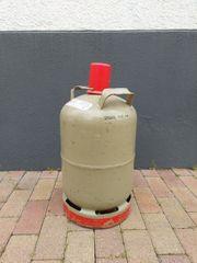 Leere Gasflasche 11 kg grau