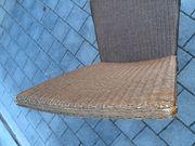 Rattan-Stühle dunkel 2 Stück Gebrauchs-Spuren
