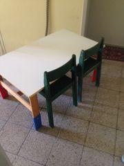 KinderTisch Weiß Gebraucht 2 Stühle