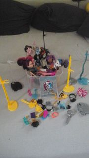 Monster High Puppen 7er Set