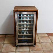exklusiver Weinkühlschrank aus den Fassdauben