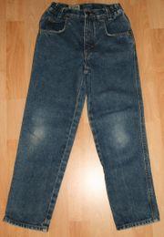 Blaue Jeans-Hose - Größe 128 - blue-denim -