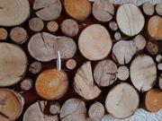 Garderobenleiste Holzscheiben Landhaus Vintage