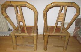 Bild 4 - 2 Stück Bambus Stühle für - Nürnberg Rosenau