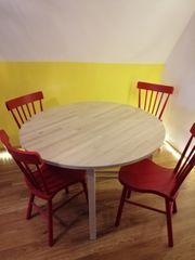 Esstisch mit 4 Stühlen Holz