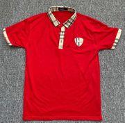 Burberry Poloshirt Gr M rot