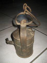 uralte Grubenlampe Lötlampe Lötkolben Heizlampe
