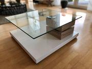Couchtisch mit schwebender Glasplatte 360°