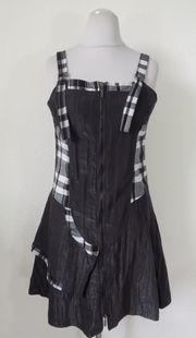 68 schwarz weißes Kleid Gr