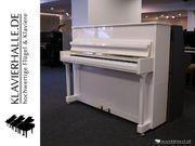 Schönes Grotrian-Steinweg Klavier weiß poliert