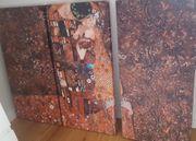 3x Akustik Bilder Gustav Klimt