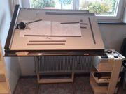 Zeichentisch Kuhlmann mit Rolltisch