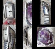 Gepflegte Edelstahl-Damen-Mark enuhr Flexo-Armband Batterie