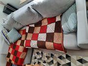 Wohnlandschaft - Sofa mit Kissen 2
