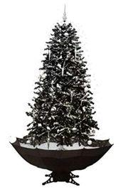 Künstlicher Weihnachtsbaum mit schneefall