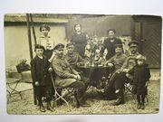 1 Weltkrieg Soldaten mit Frau