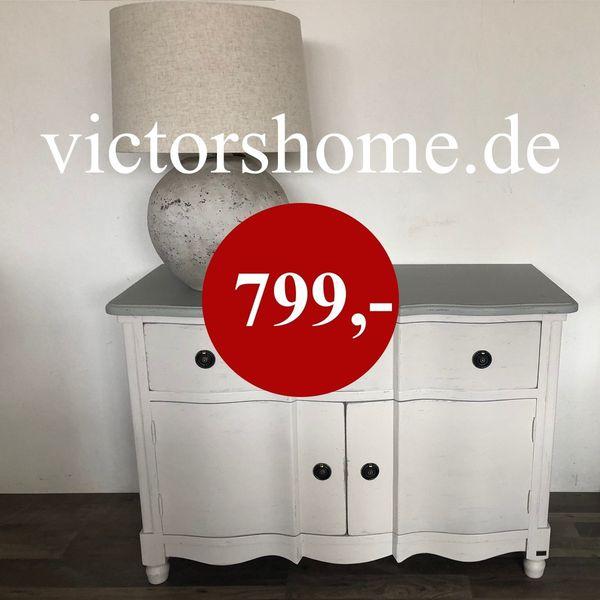 Landhauskommode Sideboard French style weiss