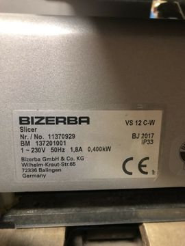 Bizerba VS12 C-W Aufschnittmaschine: Kleinanzeigen aus Hannover Bult - Rubrik Gastronomie, Ladeneinrichtung