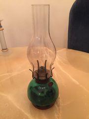 Petroleum Lampe antik Glas mit