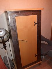 Schrank Garderobe Buche Metall