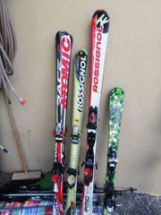 verschiedene Skier