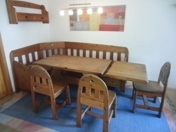 esszimmer wasa eckbank tisch mit ansteckplatte 5 st hle kommode in ostfildern. Black Bedroom Furniture Sets. Home Design Ideas