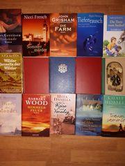 15 Hartcover Romane von verschiedenen