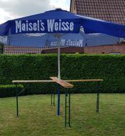 Bierinsel 4m Sonnenschirm mit XXL-Stehtisch