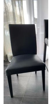 4 Esszimmerstühle schwarz