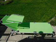 Gartenliege -3-Beinliege Alu Bespannung hellgrün