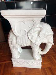 Keramik Elefant 63 cm Hoch