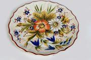 Wandteller Keramikteller Zierteller Motivteller handbemalt
