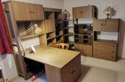 Arbeitszimmer Jugendzimmer Leiter-Regalsystem