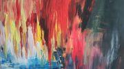 modernes Acryl Gemäde abstrakt 50