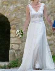 Traumhaftes Brautkleid in ivory Blush