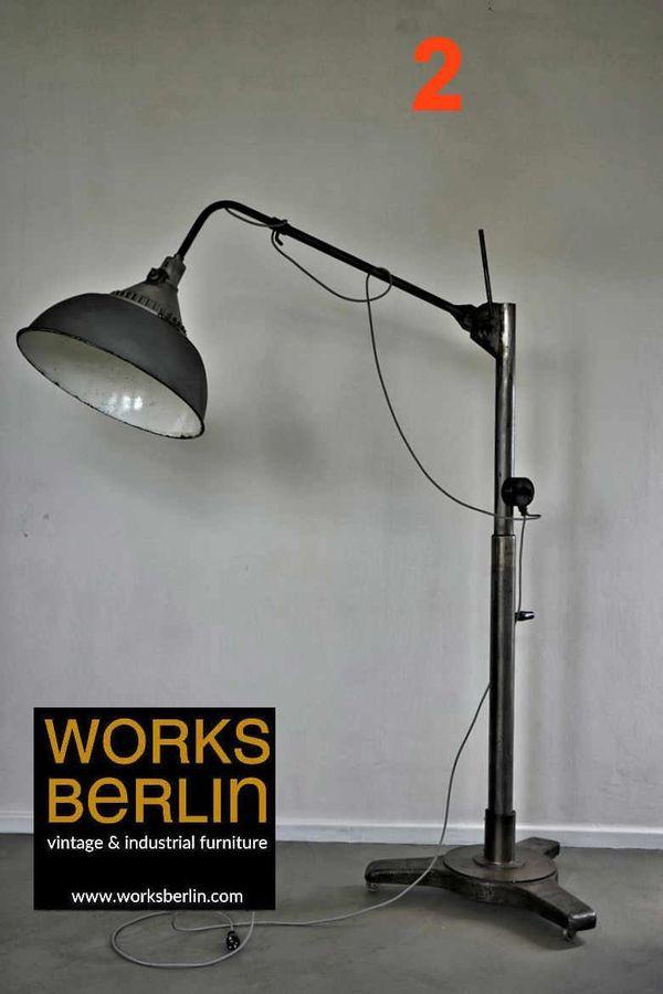 Riesige Industrielampe Stehlampe Eyecatcher für