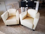 Set 2 Lounge-Sessel aus Kunstleder