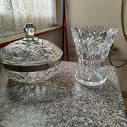 Kristallvasen Kanne Schalen und vieles