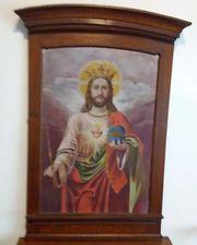 Antik Altar Ölgemälde Kirche Kapelle