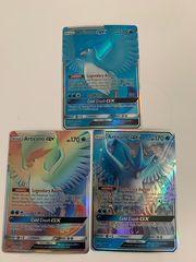 Pokemon karte 3xArticuno GX als