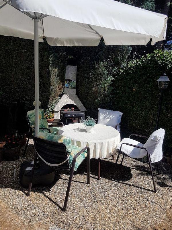 Gartensitzgruppe 9-teilig 4 Stühle Niedriglehner