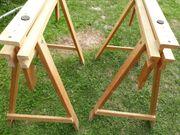 2 Holzböcke höhenverstellbar