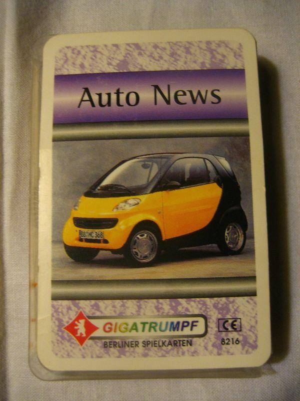 Kartenspiel Auto News Quartette von