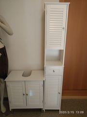 Badmöbel Hochschrank und Waschbeckenunterschrank - wie