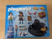 2 Playmobil Piraten-Schatzversteck 6683