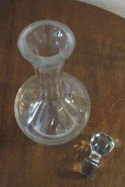 Original 1960er 70er Glaskaraffe mit