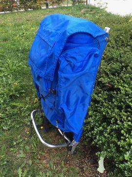 Trekking Backpack / Rucksack, blau, sehr robust, leicht, gereinigter gebrauchter Zustand