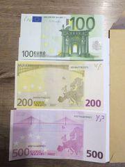 Euroscheine 200 500